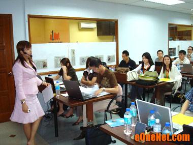 Internet marketing coach Fione Tan speaking