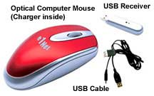 rechargeable wireless computer mouse